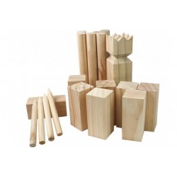 Kubb w drewnianym pudełku